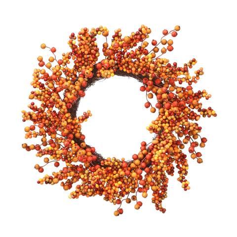 "24"" Waterproof Harvest Berry Crabapple Wreath - 24-Inches"