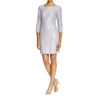 Adrianna Papell Womens Formal Dress Lace Sequined