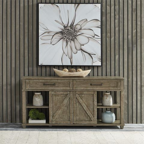 Parkland Falls Weathered Taupe Sofa Table