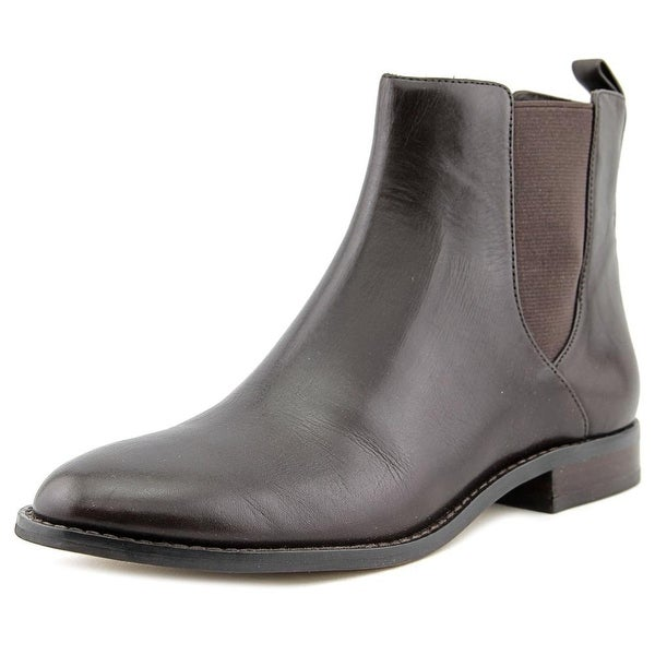 Michael Michael Kors Thea Bootie Women Round Toe Leather Brown Ankle Boot