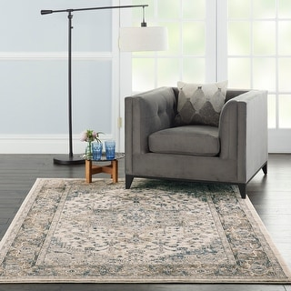 Nourison Concerto Bordered Botanical Area Rug