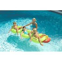 "88"" Water Sports Inflatable Green and Red Centipede Lounge Ride-On Swimming Pool Float"