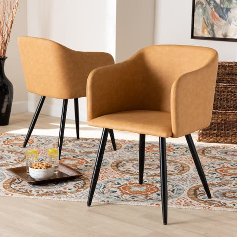 Eris Mid-Century Contemporary 2-piece Dining Chair Set