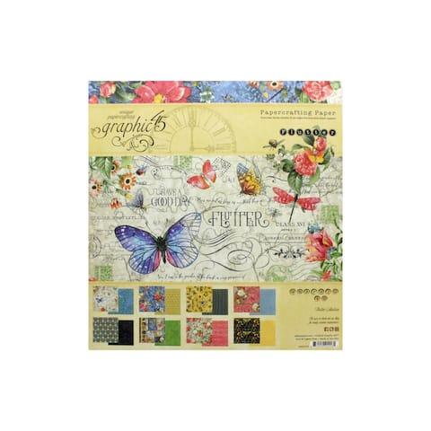 4501775 graphic 45 flutter paper pad 8x8