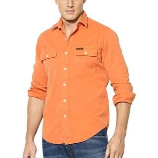 Polo Ralph Lauren Cotton Long Sleeve Shirt Military Orange X-Large