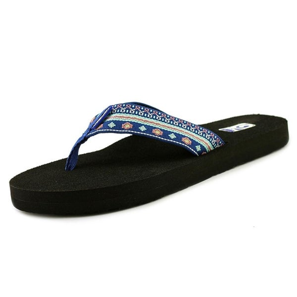 641941aeba8450 Shop Teva Mush II Women Open Toe Canvas Blue Flip Flop Sandal - Free ...