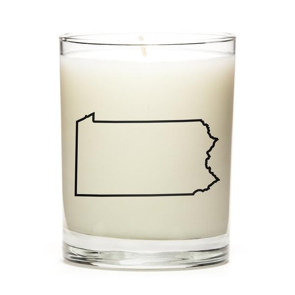 Custom Candles with the Map Outline Pensylvania, Lemon