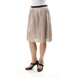 TOMMY HILFIGER $89 Womens 1053 Gold Knee Length Party Skirt 10 B+B