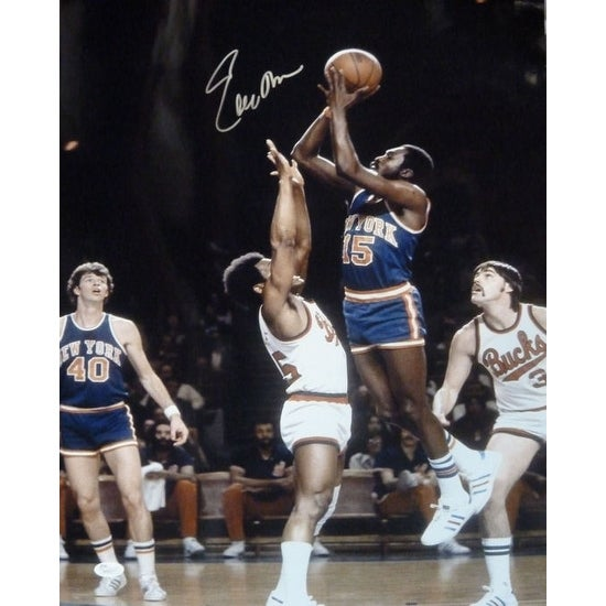 low priced 6a286 5517f Earl Monroe Autographed New York Knicks 16x20 Photo w/JSA