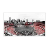 St Louis Cardinals MLB Touch of Color Matte Poster 44x15