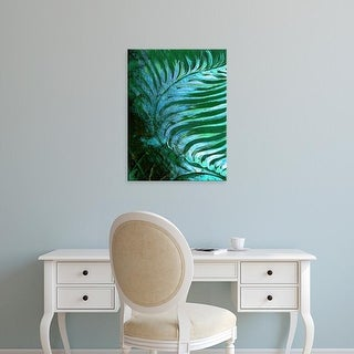 Easy Art Prints Danielle Harrington's 'Emerald Feathering I' Premium Canvas Art