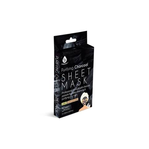 Pursonic Purifying Charcoal Oil Control & Hydrating Sheet Masks (Pack of 5)