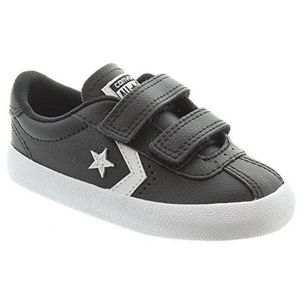 Converse Kids Unisex Breakpoint Velcro Oxford Leather, Black