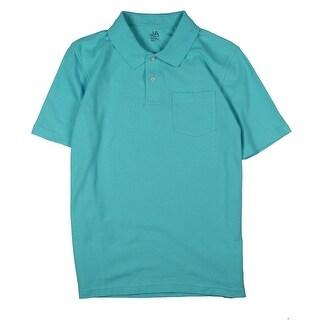 John Ashford Mens Polo Shirt Pique Front Pocket - S