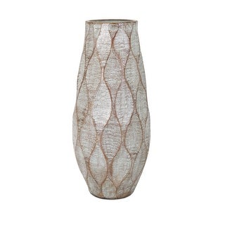 IMAX Home 10471  Outer Banks Oversized Terracotta Vase by Trisha Yearwood - Gray