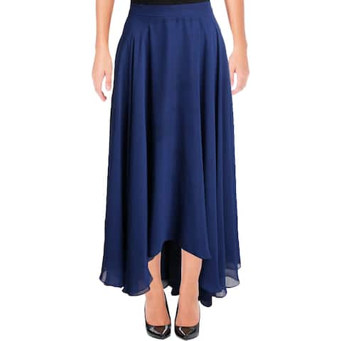 Aidan Mattox Womens Maxi Skirt Chiffon Hi-Low