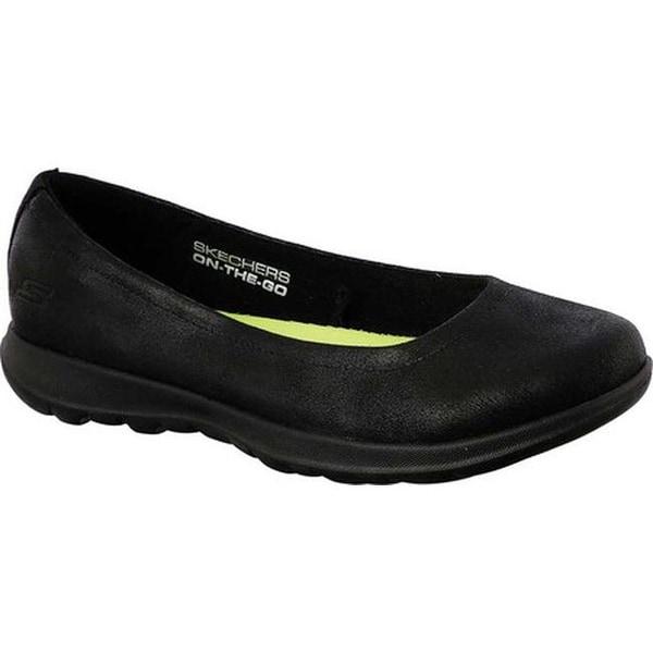 Shop Skechers Women s GOwalk Lite Gem Skimmer Black Black - On Sale ... d09dc67b3