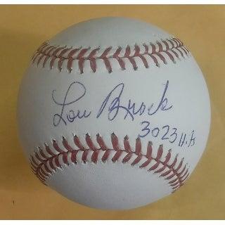 "Lou Brock Autographed St. Louis Cardinals OML Baseball ""3023 Hits"" JSA"