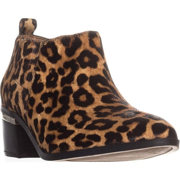 aef97cc6012c Shop Franco Sarto Aberdale Ankle Booties, Camel Leopard - Free ...