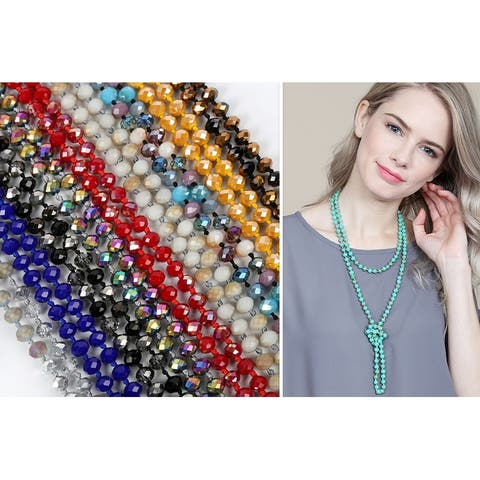 "RIAH FASHION 60"" Longline Knotted Necklace"