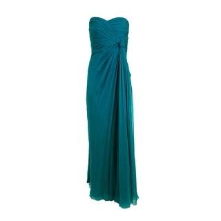 Alberta Ferretti Womens Semi-Formal Dress Silk Strapless