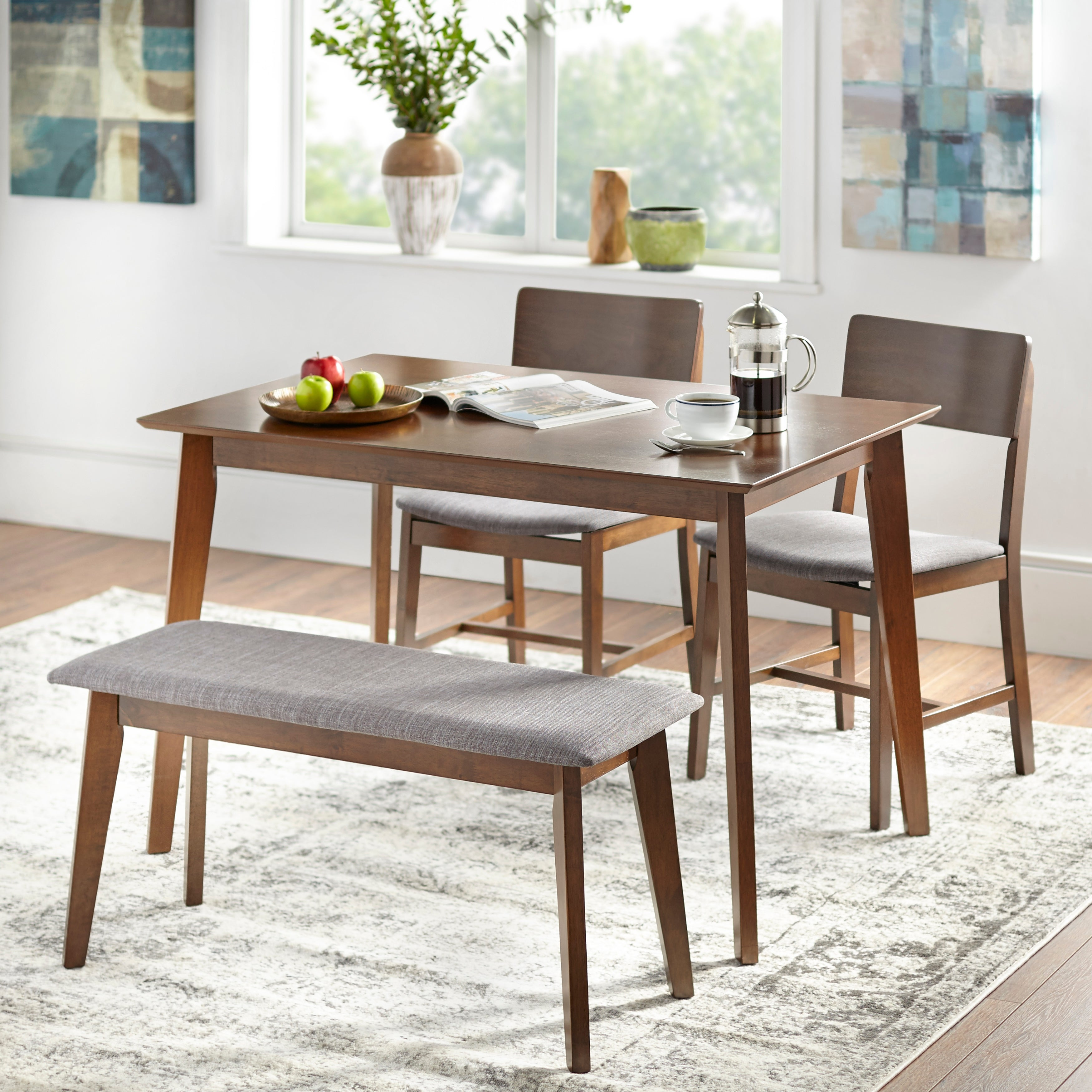 Simple Living Judith Dining Set With Bench On Sale Overstock 25776175