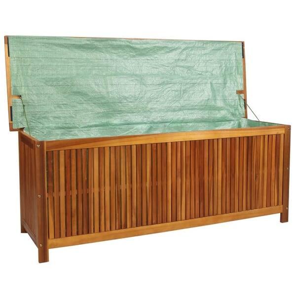 Sensational Shop Vidaxl Solid Acacia Wood Outdoor Storage Box Xl 59 Inzonedesignstudio Interior Chair Design Inzonedesignstudiocom