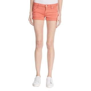 Hudson Womens Hampton Casual Shorts Twill Cuffed