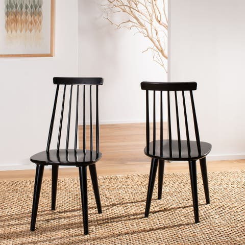 """SAFAVIEH Burris Spindle-back Side Chairs (Set of 2) - 17.3"""" W x 20.7"""" L x 36"""" H"""