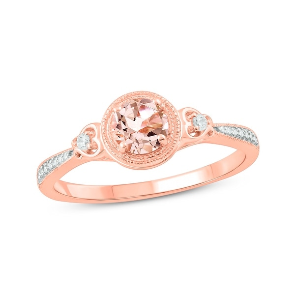 Cali Trove 10KT Pink Gold with diamond accent & Morganite fashion ring.. Opens flyout.