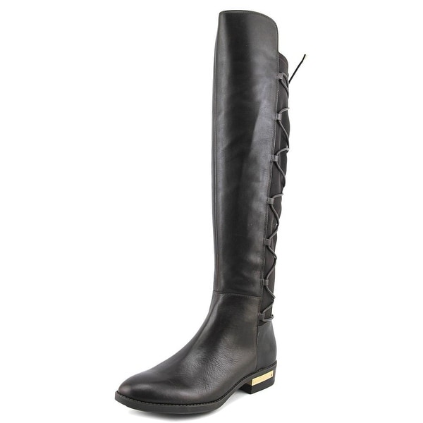 320ae11f31 Vince Camuto Parle Women Round Toe Leather Brown Knee High Boot - Free  Shipping Today - Overstock.com - 24226796
