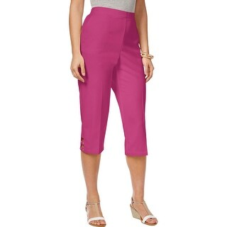 Alfred Dunner Womens Reel It In 2017 Capri Pants Strapping Cuff Cut-Out