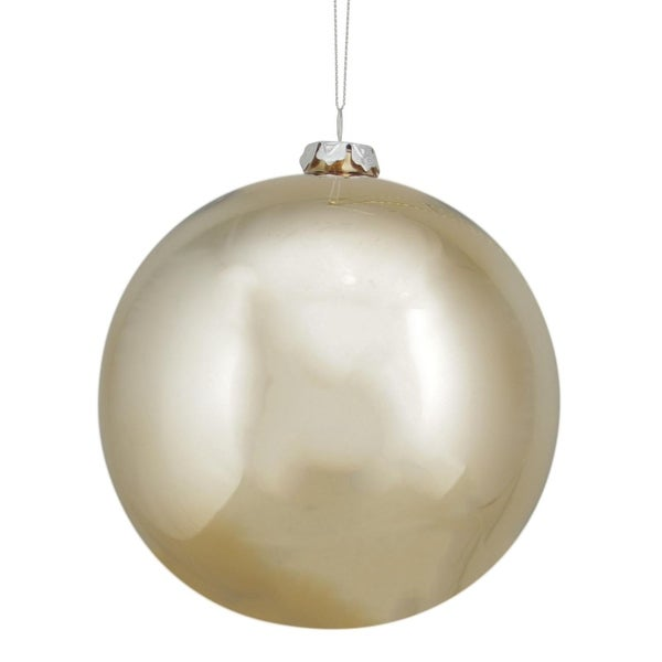 "5.5"" Luxury Lodge Shiny Copper Gold Glass Ball Christmas Ornament"