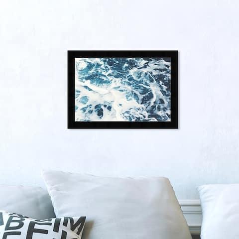 Oliver Gal 'Mykonos Water I' Nautical and Coastal Framed Wall Art Prints Coastal - Blue, White