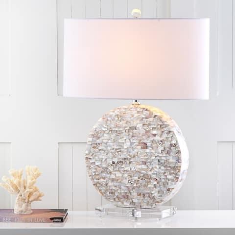 "SAFAVIEH Lighting 27-inch Lindsey Cream Table Lamp - 19""x10.5""x26.5"""