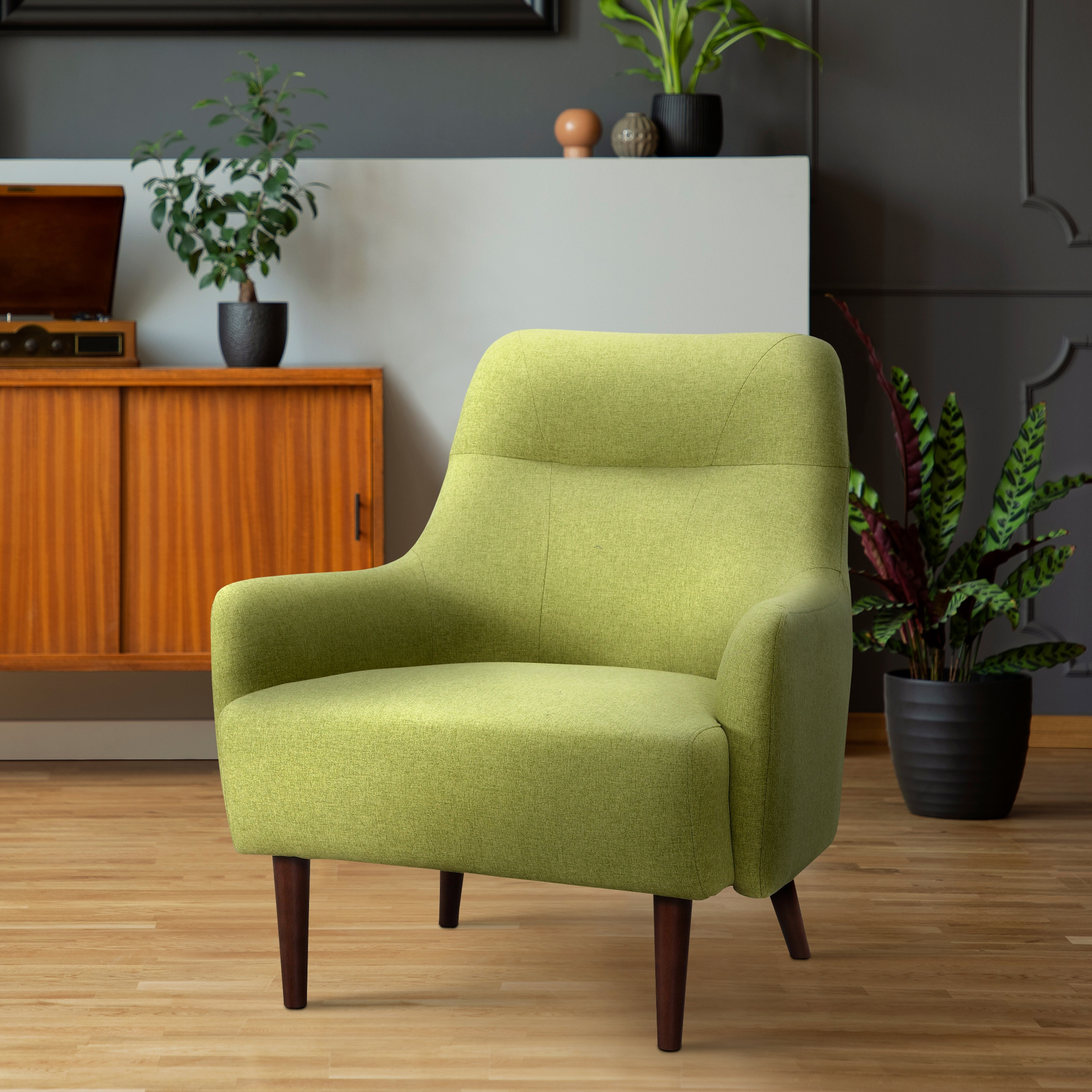 Picture of: Shop Black Friday Deals On Lawrie Lime Green Mid Century Modern Chair Overstock 27616400