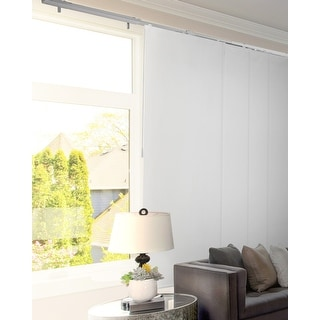 Link to CHICOLOGY Adjustable Sliding Panels, 4-Rail Track, Blackout Similar Items in Window Treatments