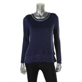 Sanctuary Womens Knit Layered Pullover Sweater - S