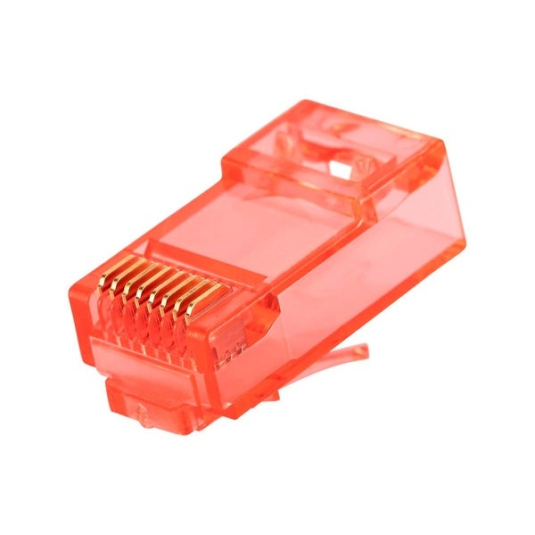 100 pack CAT5E Plug Connectors for Solid Wire Network UTP RJ45 8P8C