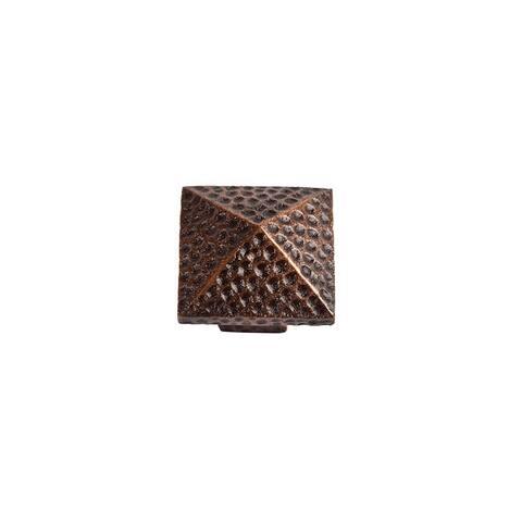 """The Copper Factory CF110 1-1/4"""" Square Cabinet Knob"""