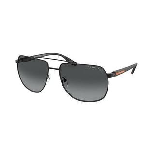 Prada Linea Rossa PS 55VS 1BO5W1 62 Matte Black Man Irregular Sunglasses