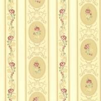 Brewster 344-68749 Palmer Yellow Stripe Wallpaper - N/A