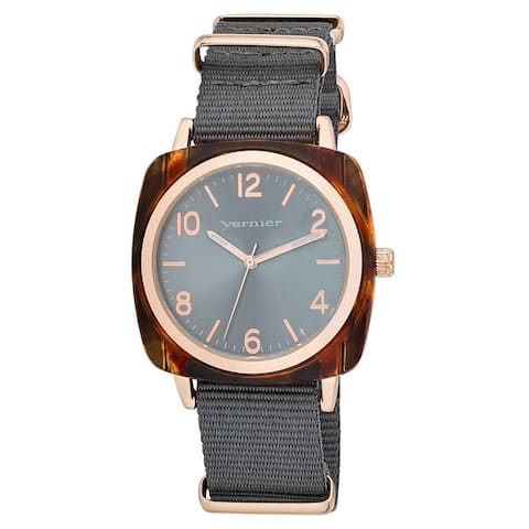 Vernier Womens Cushion Case Nato Strap Watch