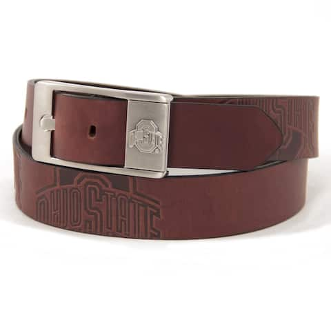 Ohio State University Brandish Leather Belt