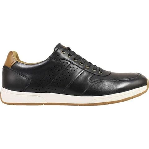 Florsheim Men's Fusion Sport Lace Up Sneaker Black Smooth Leather