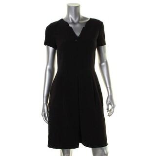 Tahari ASL Womens Wear to Work Dress Jeweled V-Neck - 4