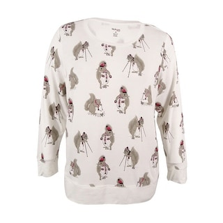 Style & Co. Women's Plus Size Rhinestoned Squirrel Graphic Sweatshirt (Option: 3x)