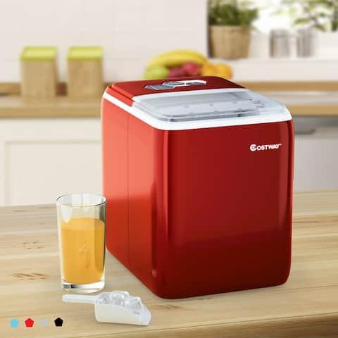 Costway Portable Countertop Ice Maker Machine 44Lbs/24H Self-Clean