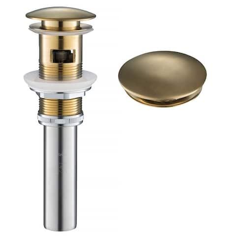 KRAUS PU-11 Pop-Up Drain w Overflow, Bathroom Sink, Chrome, Nickel