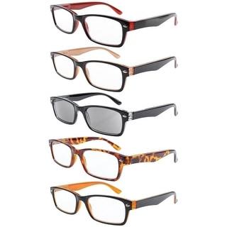 eyekepper 5pack spring hinges plastic reading glasses35